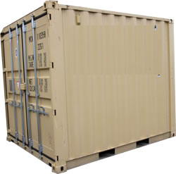 Buy a beige 10 ft shipping container in Chicago