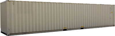 40 foot shipping container in Chicago beige color