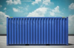 blue used shipping container for sale
