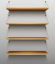 shelving as a shipping container accessory