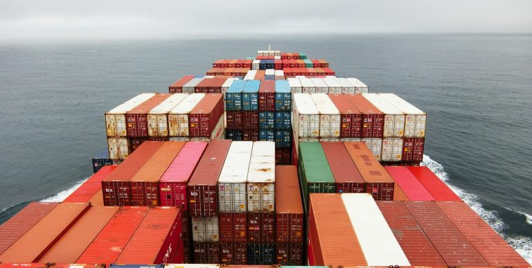 shipping containers on boat