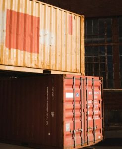 two stacked containers in the united states